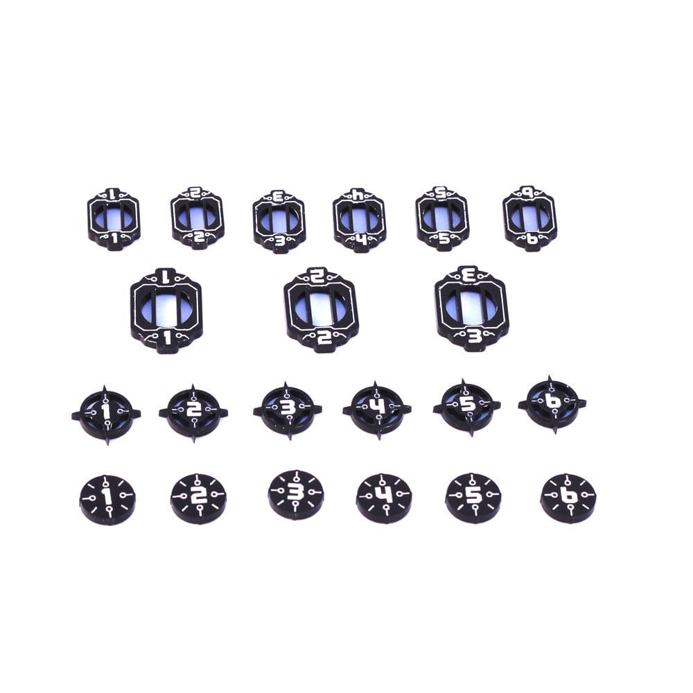 xwing 2.0 acrylic ship id token set in black