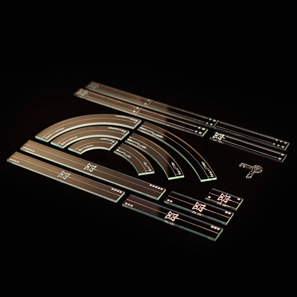 full set of xwing 2.o compatible templtes and range rulers