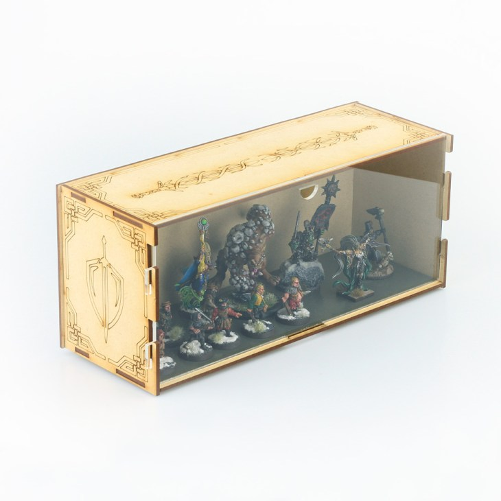 fantasy miniatures display and transport box