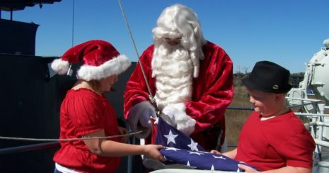Santa at the Battleship