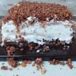 עוגת גבינה פירורי ביסקוויטים - ללא אפיה