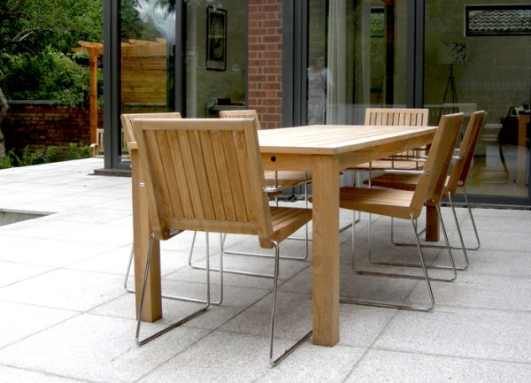 contemporary garden furniture Customer photos - Antibes table and Tripoli chairs - Bau