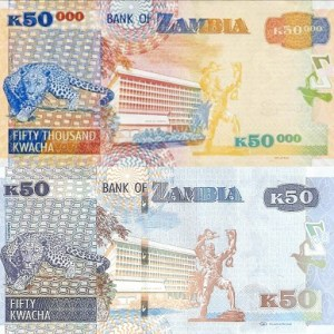 Old and New Zambian Kwacha