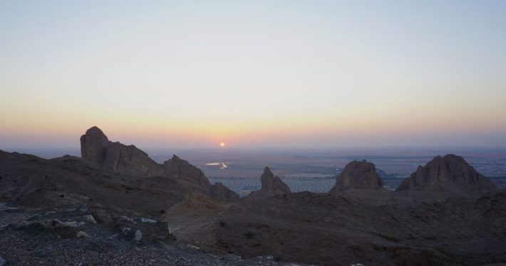 Sunset over Al Ain, from Jebel Hafeet