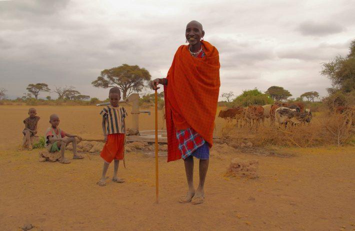 Maasai family in Amboseli