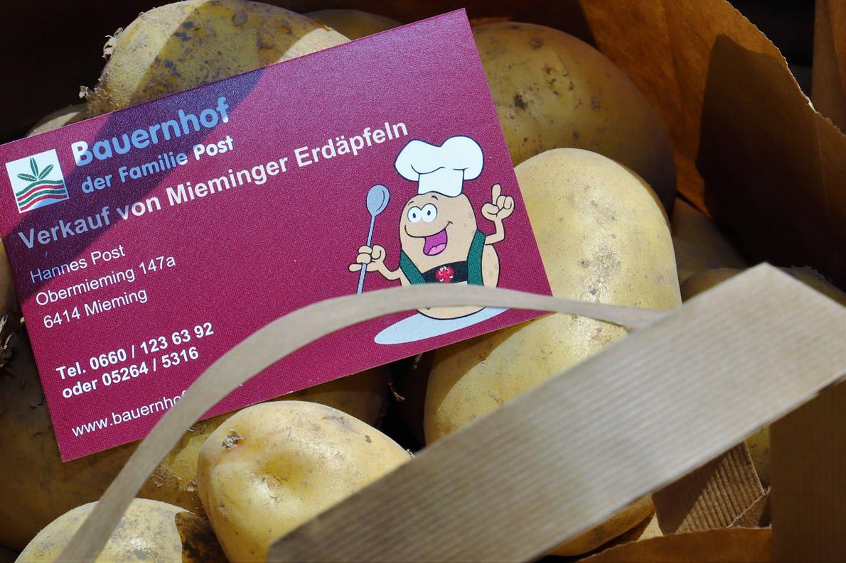 Mieminger Erdäpfel vom Bauernhof Post. Foto: Knut Kuckel/Tirol.bayern