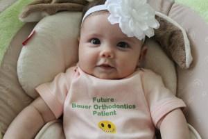 Bauer orthodontics onesie