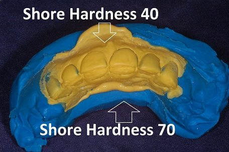 Image of two materials and their Shore Hardness
