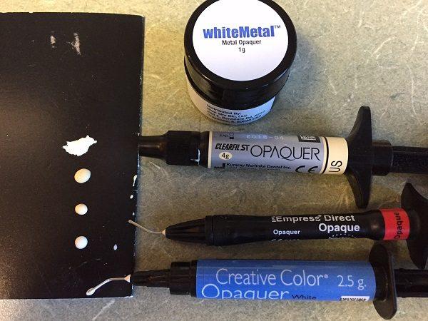 opaquer dental materials