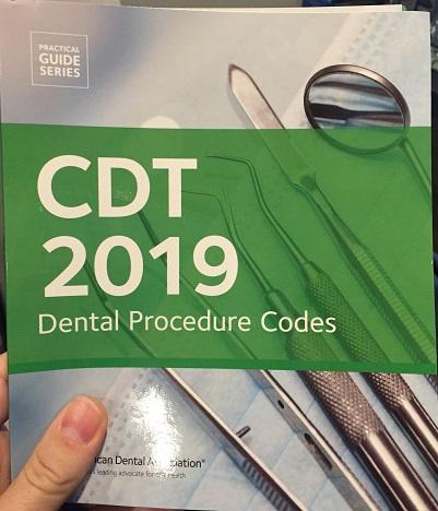 ADA dental procedure codes for 2019