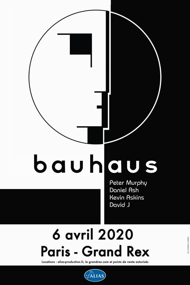 Bauhaus to play Paris, France, at Grand Rex, 6 April, 2020.
