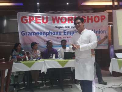 Barrister Tapas Kanti Baul at GPEU Workshop