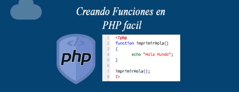 Creando Funciones en PHP facil