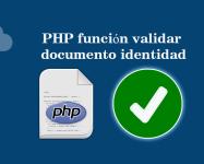 PHP función validar documento identidad