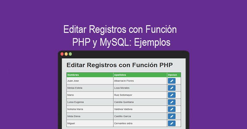 Descargar editar Registros con PHP y MySQL