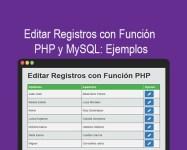 Editar Registros con Función PHP