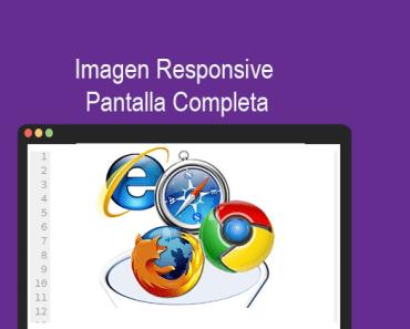 Imagen Responsive Pantalla Completa con CSS Ejemplos