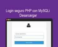 Login seguro PHP con MySQLi Descargar
