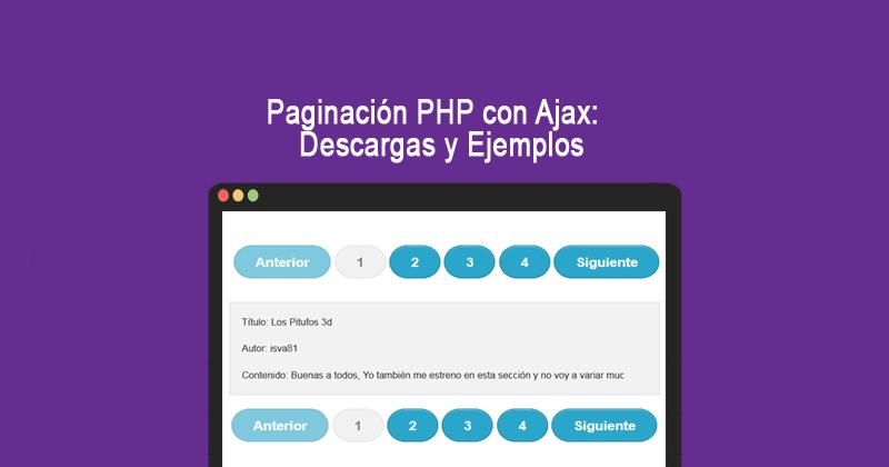 Descargar paginación PHP con Ajax