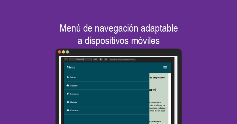 Descargar menú de navegación adaptable a dispositivos móviles