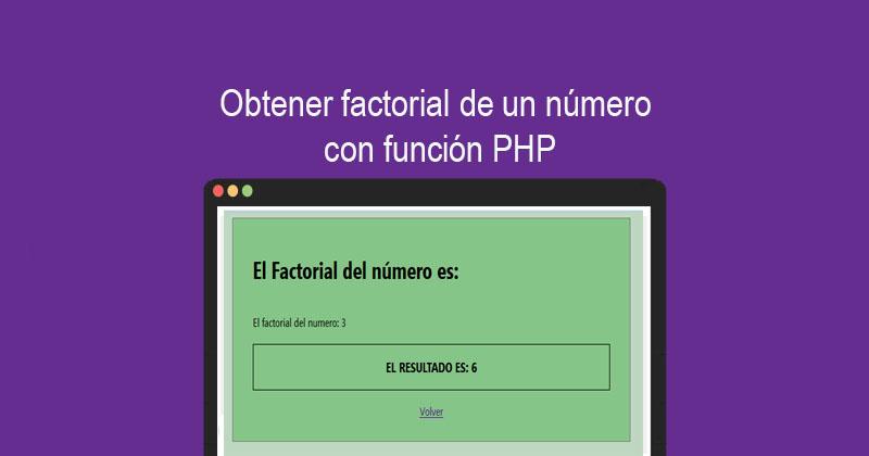 Obtener factorial de un número