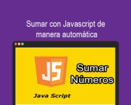 Sumar con Javascript de manera automática