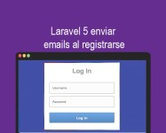 Laravel 5 enviar emails al registrarse