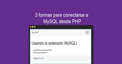 Descargar 3 formas de conexión a MySQL