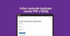 Evitar contenido duplicado usando PHP y MySQL