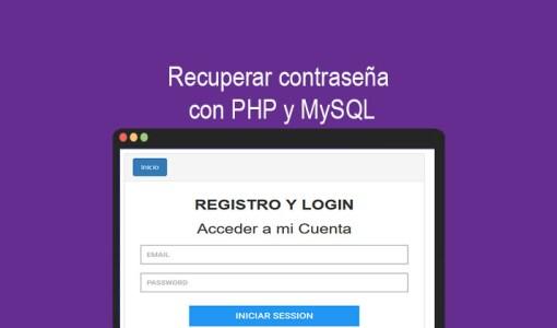 Recuperar contraseña con PHP y MySQL