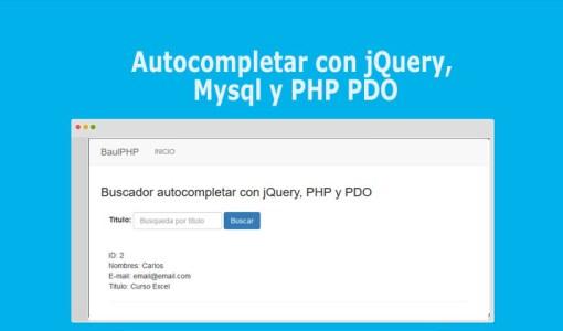 Autocompletar con jQuery, Mysql y PHP PDO
