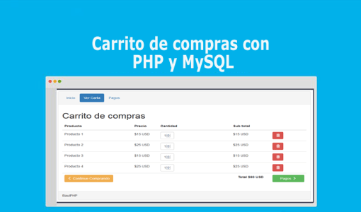 Carrito de compras con PHP y MySQL
