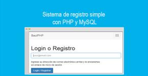 Sistema de registro simple con PHP y MySQL