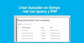 Crear buscador en tiempo real con jQuery y PHP