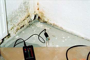 Schwachpunkt: Ecke unten, über der Kellerdecke