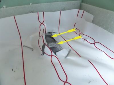 Mängelanzeige Bild Mängel in Form von Schallbrücken beim Einbau von Isolierungen, Fußbodenheizungen
