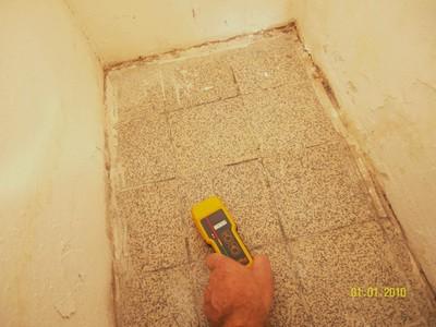 Feuchtemessung zu Schimmel im Schimmel an Bad Wand, Decke, Fugen schädlich
