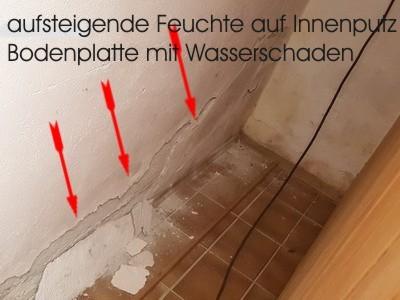 aufsteigende Feuchte an Außenwand, Baubegleiter, Baubegleitung