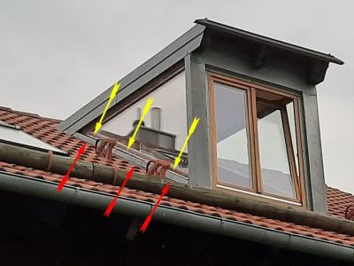 Bauüberwachung Baubegleitung EFH Fertighaus Bauberatung gutachter Dachgaube Blecharbeiten mangelhaft