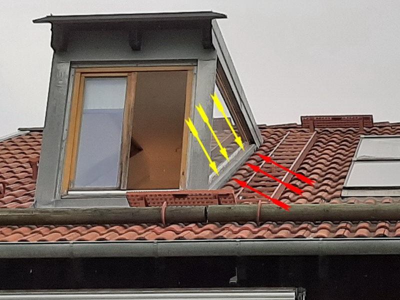 Hausgutachter Schmalfuss Altenburg Immobiliengutachter, Versicherungsgutachter, Versicherungsgutachten,Dachgaube Blecharbeiten mangelhaft