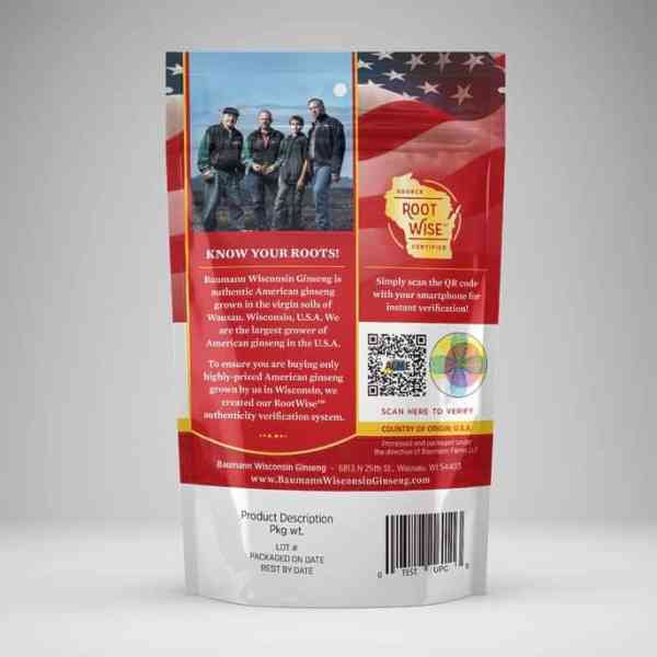 Wisconsin Ginseng Medium Root Medium Back