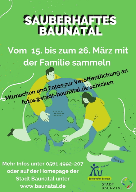 Aktion Sauberhaftes Baunatal, Baunatal Blog, Stadtverwaltung
