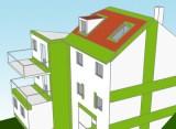 Haus mit besonders gekennzeichneten Bauteilanschlüssen für Wärmebrücken