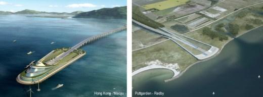 Bilder der Tunnel in Hong Kong und auf Fehmarn