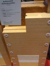 Außenwand als Holzständerkonstruktion mit Holzfaserdämmung