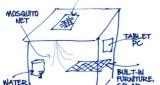 Skizze zum 300 Dollar Haus
