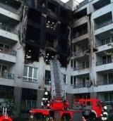 Brand Feuer an einer Fassade mit WDVS aus EPS in Berlin