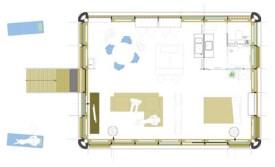 Der Grundriss eines Loftcube