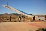 Welt größter Papierflieger kurz vor dem Start