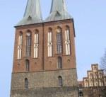 Türme der Nikolaikirche in Berlin